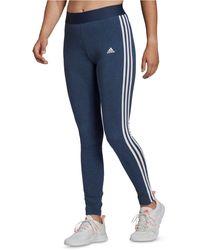adidas Essentials 3-stripe Full Length Leggings - Blue