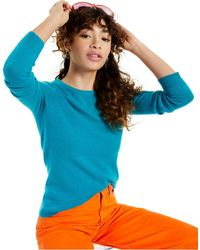Charter Club Crew-neck Cashmere Sweater, In Regular And Petites, Created For Macy's - Blue