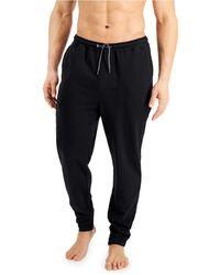 Alfani Moisture-wicking Pyjama Sweatpants, Created For Macy's - Black