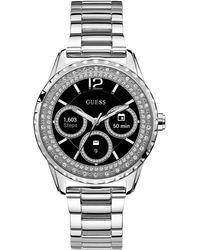 Guess - Connect Women's Stainless Steel Bracelet Touchscreen Smart Watch 40mm - Lyst