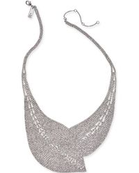 """INC International Concepts - I.n.c. Woman Silver-tone Crystal Mesh Statement Necklace, 17"""" + 3"""" Extender, Created For Macy's - Lyst"""