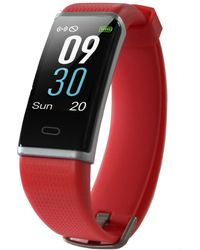 Body Glove Red Rubber Band Activity Tracker And Heart Rate Monitor Watch 19mm