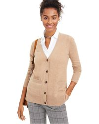 Charter Club Cashmere Boyfriend Cardigan, Regular & Petite Sizes, Created For Macy's - Natural