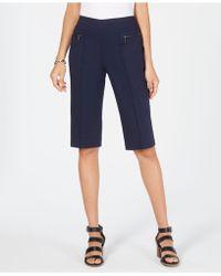 Style & Co. Petite Pull-on Capri Pants - Blue