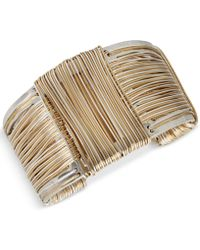 Robert Lee Morris Wire-wrapped Sculptural Cuff Bracelet - Metallic