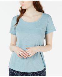 Charter Club Crew Neck Knit Pyjama Top, Created For Macy's - Blue