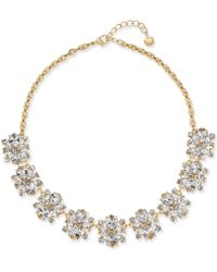 Charter Club | Gold-tone Crystal Cluster Statement Necklace | Lyst