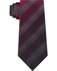 Kenneth Cole Multi Tonal Check Tie - Red