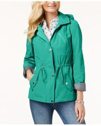 Charter Club - Water-resistant Hooded Anorak Jacket, Created For Macy's - Lyst