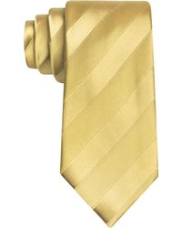 Sean John Wilson Solid Stripe Tie - Yellow