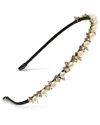 INC International Concepts Inc Gold-tone Imitation Pearl Headband, Created For Macy's - Multicolor