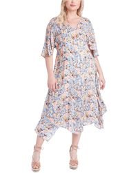 Jessica Simpson Trendy Plus Size Toni Printed Dress - Multicolour