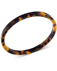 Zenzii Patterned Acetate Bangle Bracelet - Brown