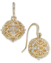Charter Club - Crystal Filigree Drop Earrings, Created For Macy's - Lyst
