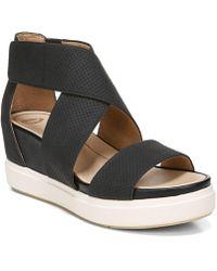 Dr. Scholls Sheena Platform Wedge Sandals - Black