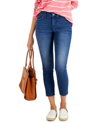 Style & Co. Petite Curvy-fit Mid-rise Skinny Ankle Jeans, Created For Macy's - Blue