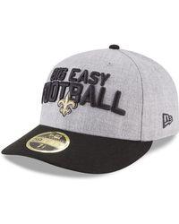 831b1c9e0fa Lyst - KTZ New Orleans Saints Faux-Leather Black On Black 9Fifty ...