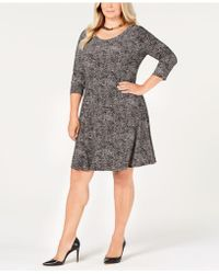 Anne Klein - Plus Size 3/4-sleeve Shirt Dress - Lyst