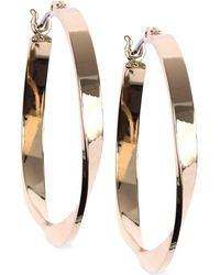 Nine West - Twisted Hoop Earrings - Lyst