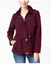 Charter Club Water-resistant Hooded Anorak Jacket, Created For Macy's - Red