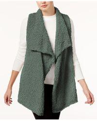 Kensie - Draped Fuzzy Vest - Lyst