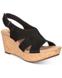 Clarks - Women's Annadel Bari Wedge Sandals - Lyst