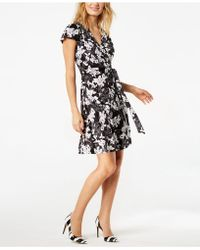 INC International Concepts | Printed Wrap Dress, Created For Macy's | Lyst