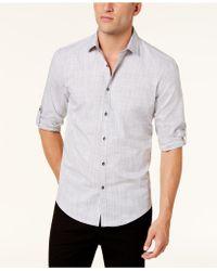 Alfani - Men's Parktron Stripe Shirt - Lyst