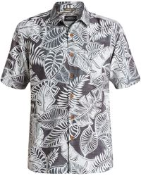 Quiksilver - 'siesta' Regular Fit Leaf Print Camp Shirt - Lyst