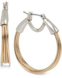 Robert Lee Morris Two-tone Wire Hoop Earrings - Metallic