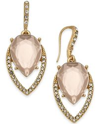 INC International Concepts - I.n.c. Gold-tone Pavé & Colored Stone Navette Drop Earrings, Created For Macy's - Lyst