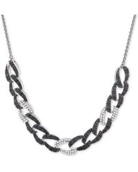 "Wrapped in Love ? Diamond Large Link 26"" Slider Necklace (1 Ct. T.w.) In Sterling Silver, Created For Macy's - Metallic"