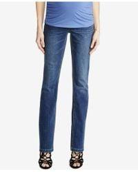 Luxe Essentials - Petite Maternity Dark Wash Skinny Jeans - Lyst