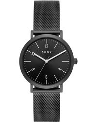 DKNY - Minetta Black Stainless Steel Mesh Bracelet Watch 36mm, Created For Macy's - Lyst