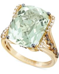 Le Vian - Green Amethyst (9-3/4 Ct. T.w.), White Diamond (1/8 Ct. T.w.) And Chocolate Diamond (3/8 Ct. T.w.) Ring In 14k Gold - Lyst