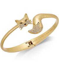 Kate Spade - Gold-tone Pavé Fox Cuff Bracelet - Lyst