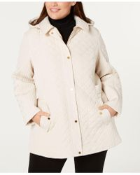 Jones New York - Plus Size Quilted Side-strap Coat - Lyst