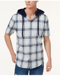 American Rag - Ian Plaid Hooded Shirt, Created For Macy's - Lyst