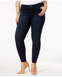 b2f209672dc3a Lyst - Celebrity Pink Plus Size Raw-hem Skinny Jeans in Blue