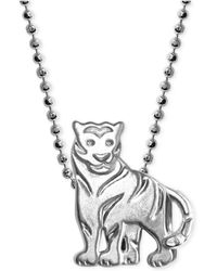 Alex Woo - Little Tiger Zodiac Pendant Necklace In Sterling Silver - Lyst