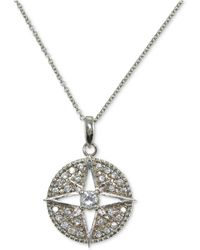 Giani Bernini | Cubic Zirconia Round Pendant Necklace In Sterling Silver | Lyst