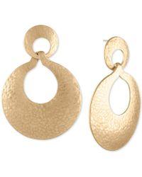 RACHEL Rachel Roy - Gold-tone Hammered Drop Earrings - Lyst