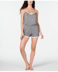 Alfani - Ultra Soft Contrast-trim Pyjama Romper, Created For Macy's - Lyst