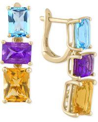 Effy Collection - Effy® Multi-stone Drop Earrings (6-7/8 Ct. T.w.) In 14k Gold - Lyst
