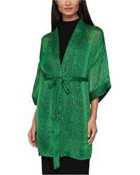 BCBGMAXAZRIA Snake-embossed Kimono - Green