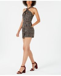 19 Cooper - Tweed Plaid Halter Romper - Lyst