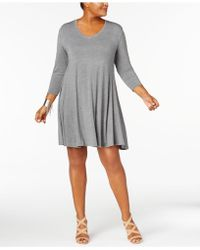 Style & Co. - Plus Size V-neck A-line Swing Dress, Created For Macy's - Lyst