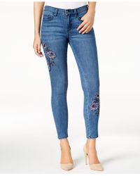Buffalo David Bitton | Faith Embroidered Skinny Jeans | Lyst