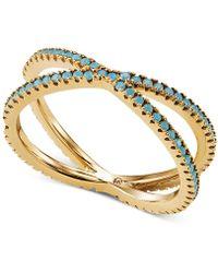 Michael Kors Custom Kors Sterling Silver Pave Nesting Ring Insert - Metallic