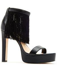dd1dc813ce3 Lyst - Saint Laurent Inez 105 Leather Sandals in Black